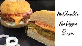 McVeggie Burger | McDonald's Style McVeggie Burger At Home | Veg Burger At Home