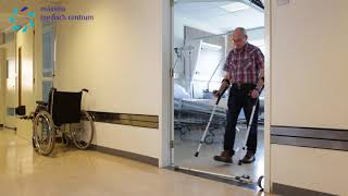 MMC fysiotherapie ouderen 26: over een drempel stappen met krukken