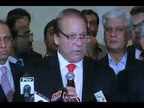 Dunya News-After talks with Modi, Nawaz Sharif address media