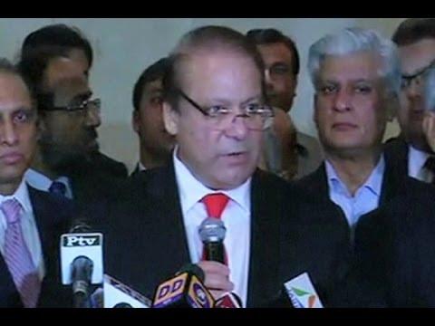 Dunya News-After talks with Modi, Nawaz Sharif address media