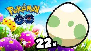 22 OVOS DE PÁSCOA E 2 SURPRESAS ! - Pokémon Go | Capturando Shiny (Parte 60)