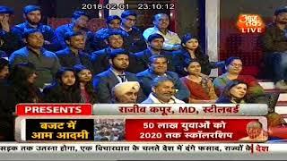 Watch Mr. Rajeev Kapur, MD, Steelbird Helmets on AAJ TAK live Panel Discussion on Budget 2018