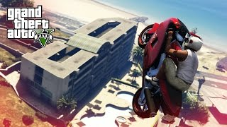 AWESOME BIKE STUNT! - (GTA 5 Stunts & Fails)