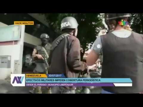 Periodistas bajo riesgo en cobertura de Venezuela