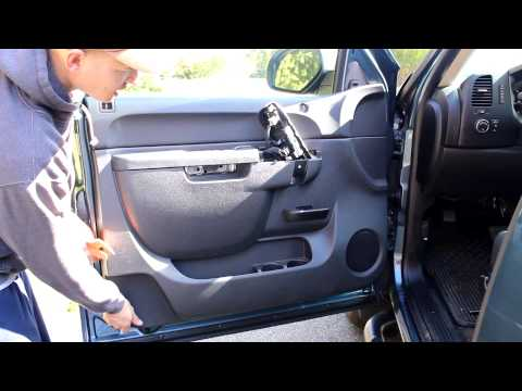 GMC Sierra Front door speaker install replace change 2013 extended cab