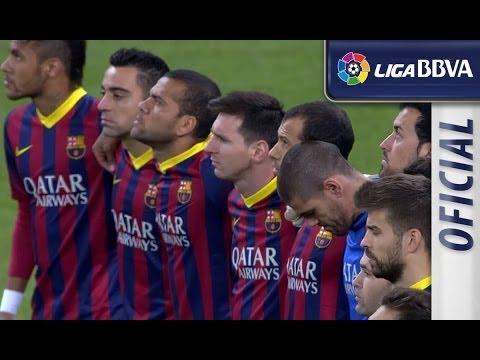 Minuto de silencio por Adolfo Suárez en el Bernabéu - EL CLÁSICO - HD