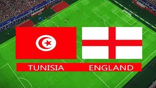PES | TUNISIA vs ENGLAND | FIFA World Cup 2018 | Full Match | Gameplay PC