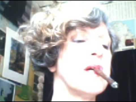More Cigar Smoking Woman on CAM Video