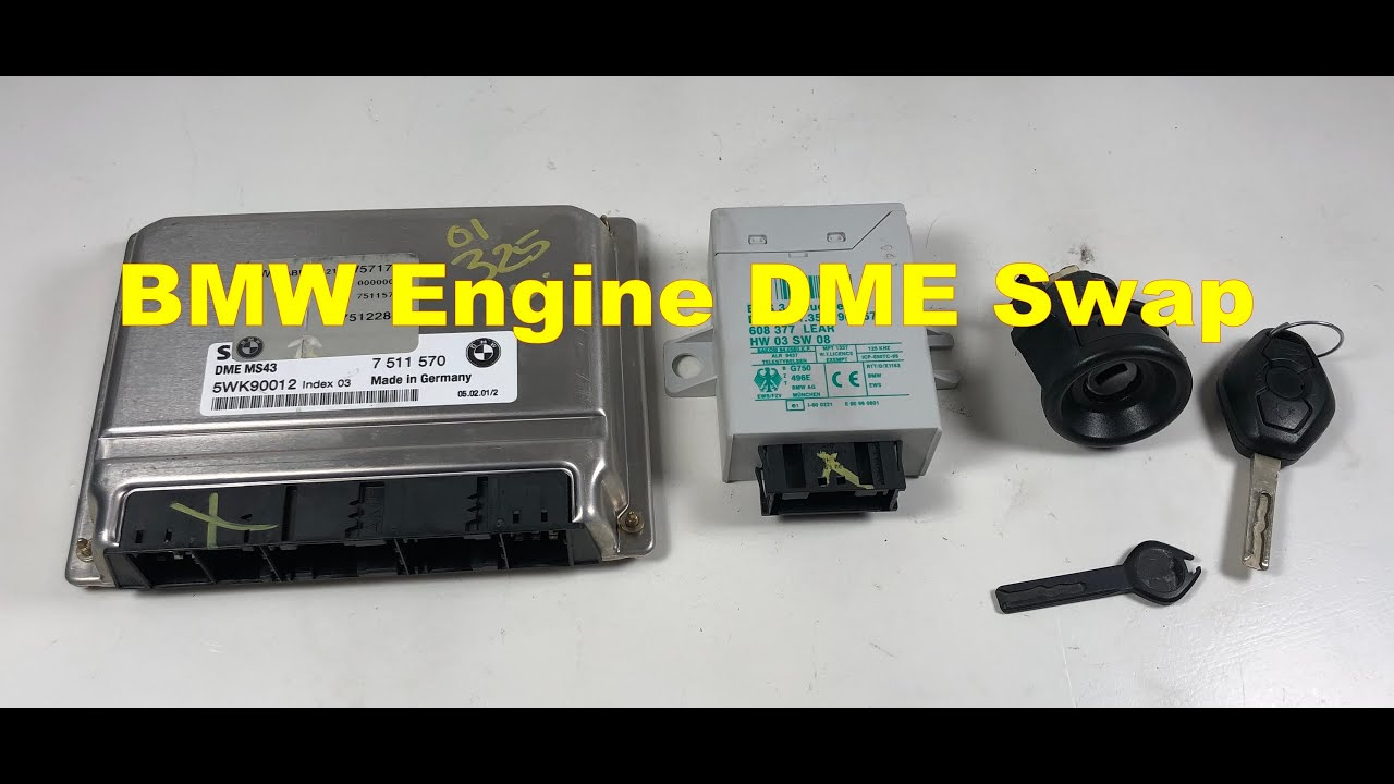 BMW e46 325ci DME EWS key cylinder swap 330 Part 1 - YouTube