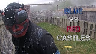 DIABLO - BLUE VS RED CASTLES BATTLE - Magfed Paintball
