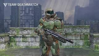 Quake Champions 1st DOOM Slayer Gameplay