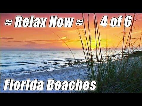 FLORIDA BEACHES #4 Ocean Sounds Relaxing Sunset Waves DVD Relax  Clearwater Beach Relaxation Video