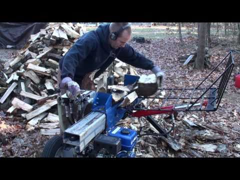 Powerhorse log splitter with custom made dual 4-way wedge