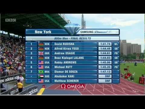 David Rudisha World Lead 800m New York Diamond League 2012