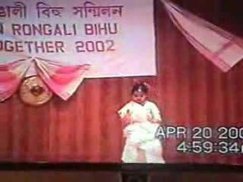 Megha's Assamese Dance,boston Bihu 2002 video