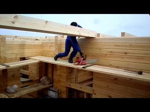 Правильный монтаж деревянных балок в деревянном доме,строительство собственного деревянного дома.
