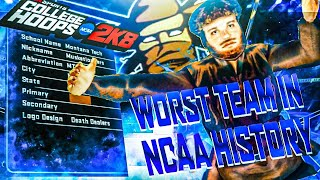 THE WORST TEAM IN NCAA HISTORY! [Musketloaders NCAA College Hoops 2K8 Legacy Mode] Ep. 1
