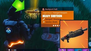 NEW LEGENDARY HEAVY SHOTGUN GAMEPLAY | Fortnite Battle Royale | 4 Wins in a Row!