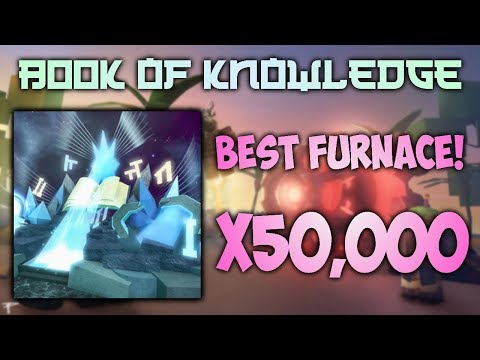 CRAFTING THE BOOK OF KNOWLEDGE! Miner's Haven (Best Furnace in the Game!)