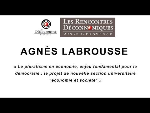 Rencontres Déconnomiques 2015 : Agnès Labrousse / René Teboul - 1/3