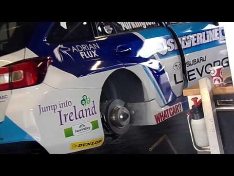 BTCC 2016 Oulton Park - Colin Turkington BMR Subaru Engine Warm Up.
