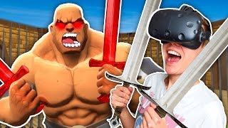 GLADIATOR SWORD FIGHTING IN VIRTUAL REALITY! (GORN VR Funny HTC Vive Gameplay)