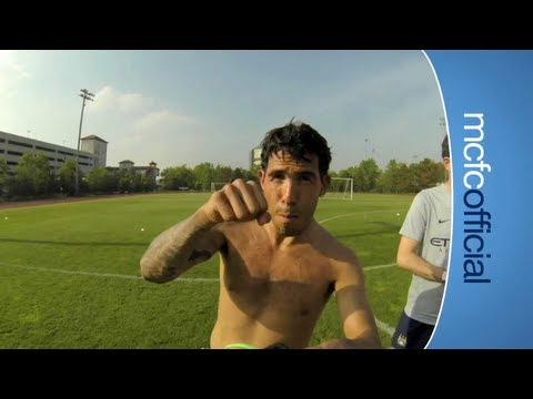MCFC TRAINING GoPro Style: See it from Tevez, Hart and Nasri point of ...
