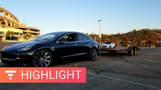Tesla Model 3 Can Tow 2,000lb Easy - Real World Test