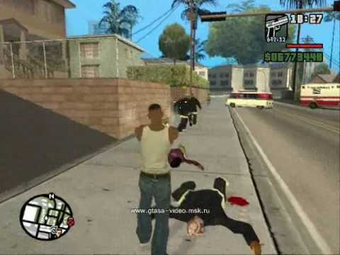 GTA San Andreas CJ with gangsters (#2)