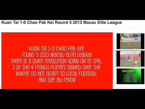 Kuan Tai 1-0 Chao Pak Kei Round 5 2013 Macau Elite League