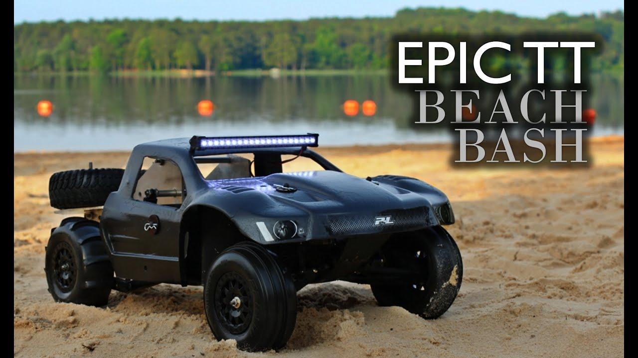 Rc Trophy Truck Epic Beach Bash Gopro Hero3 Youtube