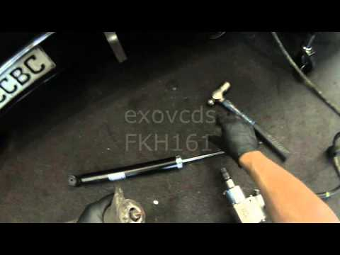 VW A4: Rear Shock & Coil Spring Removal