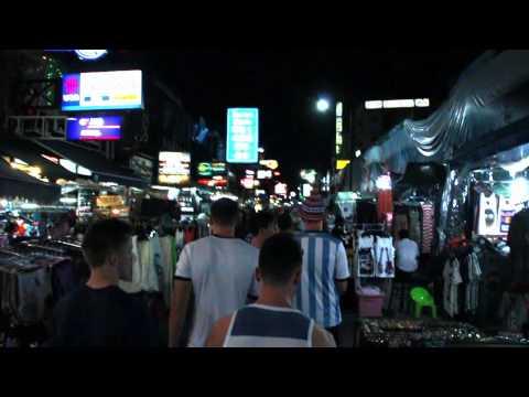 A walk through Khao San Road, Bangkok (Thailand)