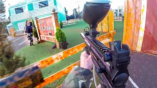 ZOMBIE YOUTUBERS NUKETOWN PAINTBALL AT COD XP 2016! (US VS. UK)