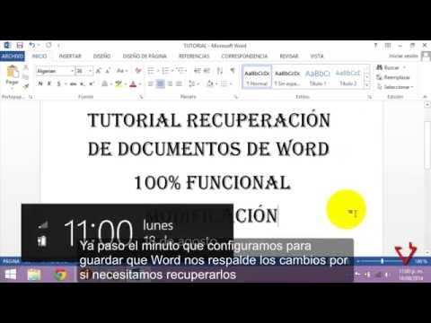 Recuperar cambios y documentos de Word 2013