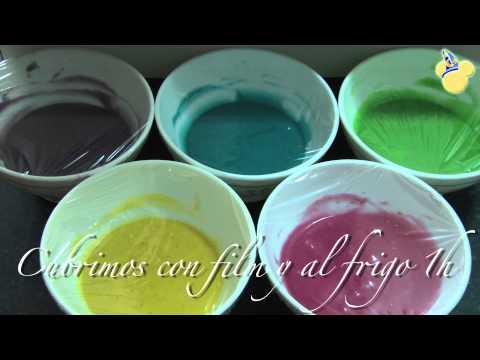 Magdalenas multicolor - Recetas Postre - Los Aprendices de Pastelero