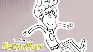 The Adventures of Napkin Man | PAINT AND PYRAMIDS | Cartoons for Kids