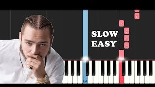 Download Lagu Post Malone - Better Now (SLOW EASY PIANO TUTORIAL) Gratis STAFABAND