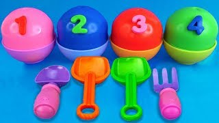 4 Slime Play Doh Ice Cream Cups | Cars Kinder Surprise Eggs Learn Colors LOL Surprise Toys