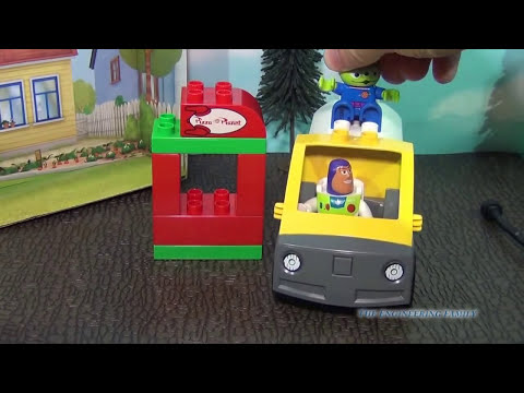 TOY STORY LEGO Pizza Planet Delivery Truck with Buzz Lightyear a Disney Movie Toy