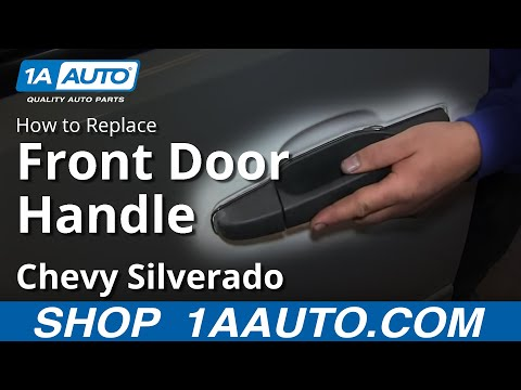How To Install Replace Outside Front Door Handle 2007-13 Chevy Silverado GMC Sierra