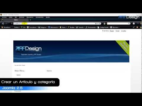 Crear artculos y categoras Joomla 2.5.flv