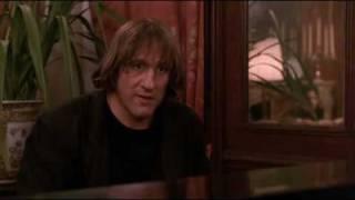 Gerard Depardieu plays piano and sings a poem in Green Card