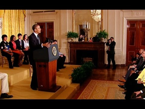 President Obama Speaks at the 2013 White House Science Fair