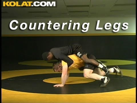 Leg Ride Counter KOLAT.COM Wrestling Technique Moves Instruction Image 1