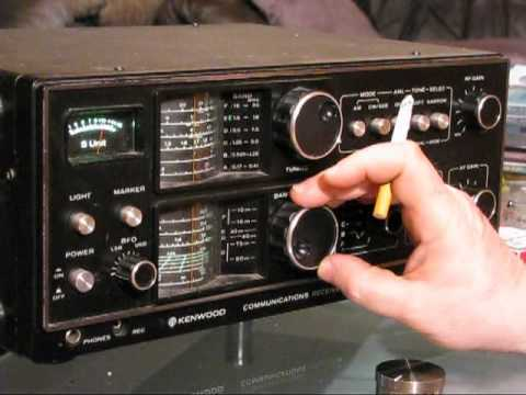 shortwave bandscan / dxing with my Kenwood R-300 receiver