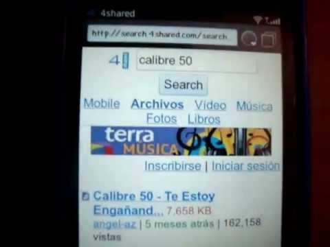 Descarga Musica Gratis desde tu celular  (Blackberry) part1.