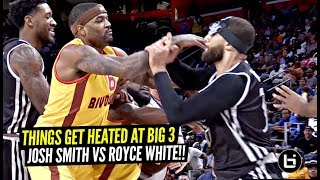 Former NBA Pros Josh Smith & Royce White Get Into a FIGHT at Big 3!! Things Get HEATED!!