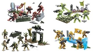 Video Reveal of BAToys Fireteam Reinforcement Bundle 2015 Halo Mega Bloks Crimson Venom Eagle Sierra