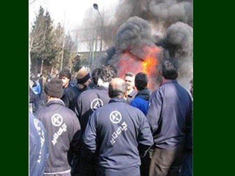 iran workers strike 2008 صدای کارگران اعتصابی لاستیک البرز